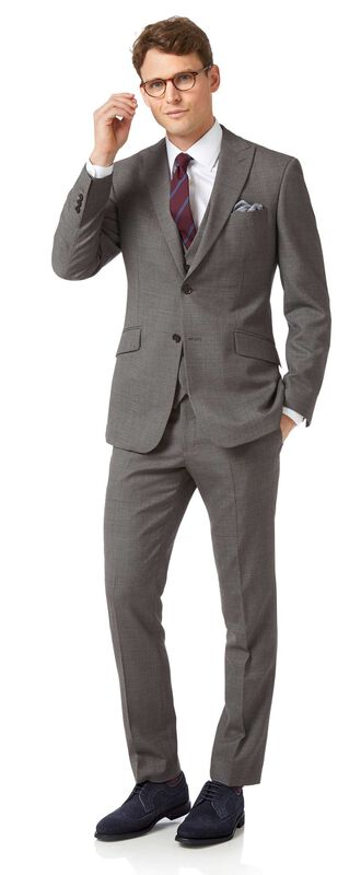 Costume business gris jaspé slim fit