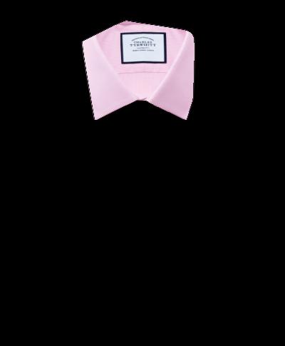 Chemise rose en oxford royal de coton égyptien slim fit