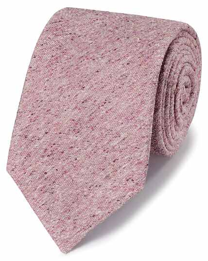 Light pink silk Donegal English luxury tie