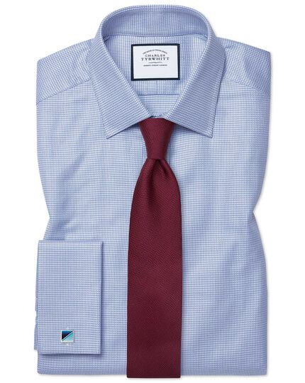 Egyptian Cotton Chevron Shirt - Sky Blue