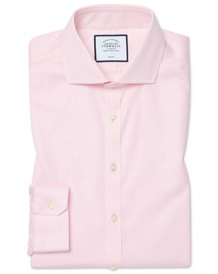 Bügelfreies Super Slim Fit Hemd aus Baumwoll-Stretch mit Haifischkragen in Rosa