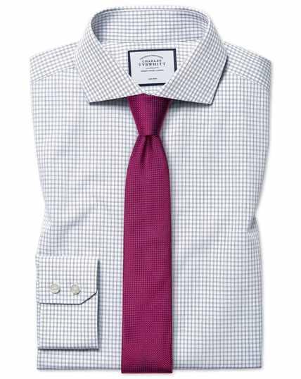 Extra slim fit non-iron 4-way stretch navy shirt