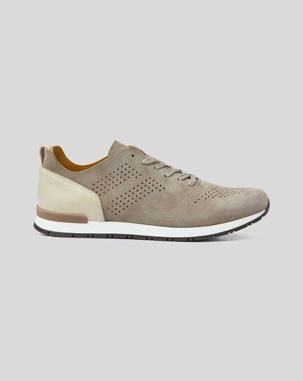 Sneaker aus Wildleder  - Grau
