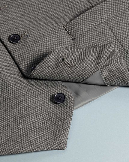 Grey adjustable fit jaspe business suit waistcoat