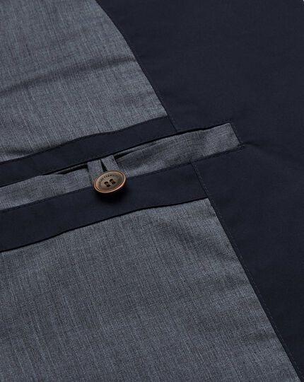 Navy showerproof quilted sports blazer