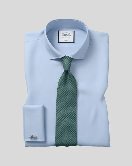 Silk Melange Puppytooth Tie - Green