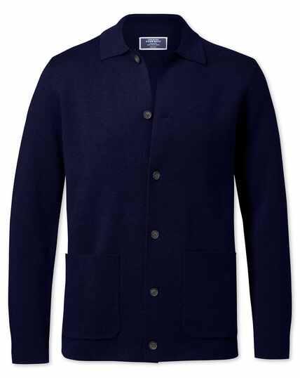 Navy merino wool jacket