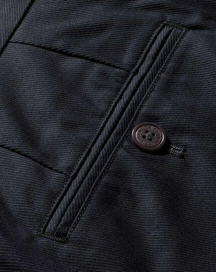 Pantalon gris en sergé de cavalerie stretch slim fit