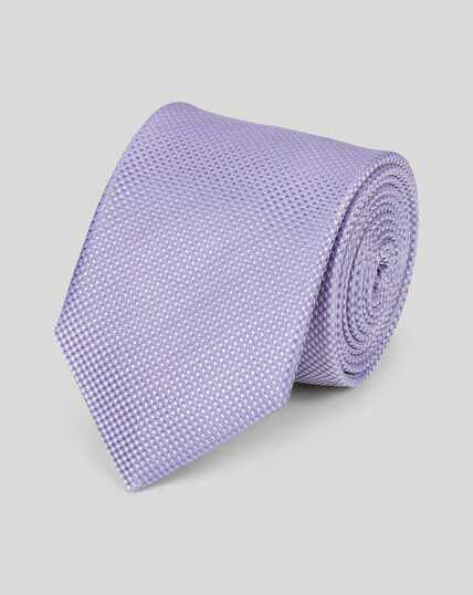 Stain Resistant Silk Textured Tie - Lilac