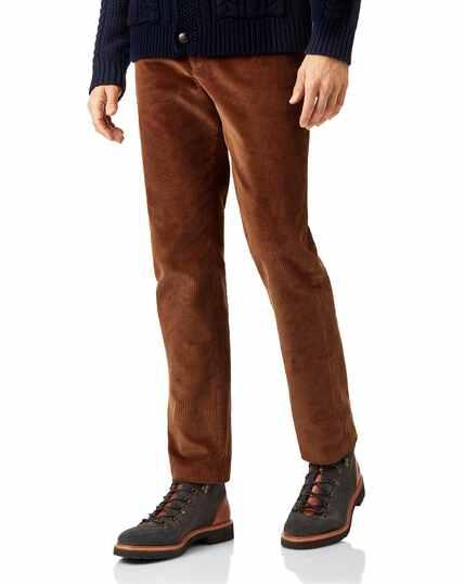 Dark orange jumbo cord trousers
