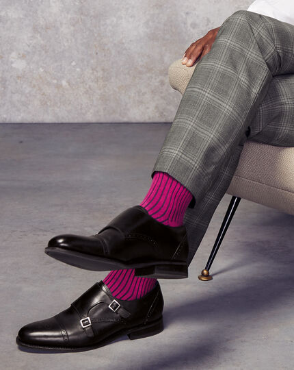 Shadow Stripe Socks  - Pink