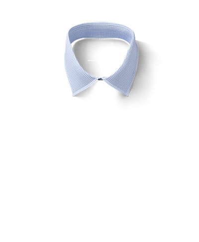 Bügelfreies Slim Fit Twill-Hemd in Himmelblau mit Mini-Karo