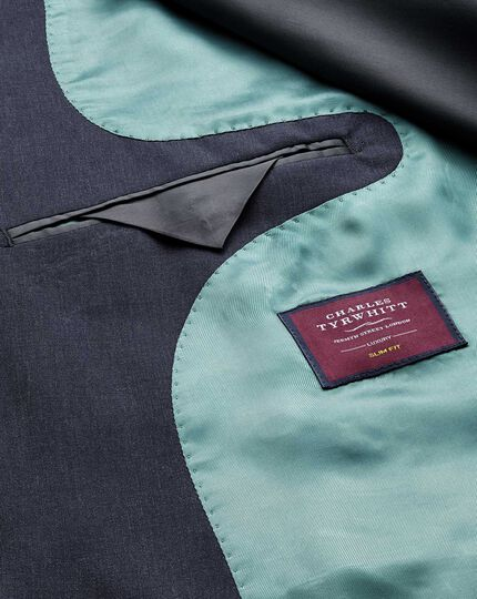 Blue Panama classic fit British suit jacket
