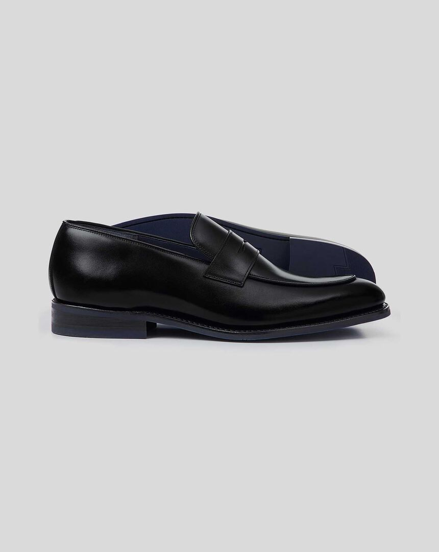 Goodyear Welted Performance Saddle Loafer  - Black