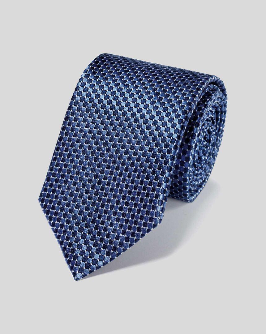 Schmutzabweisende Krawatte aus Seide - Marineblau