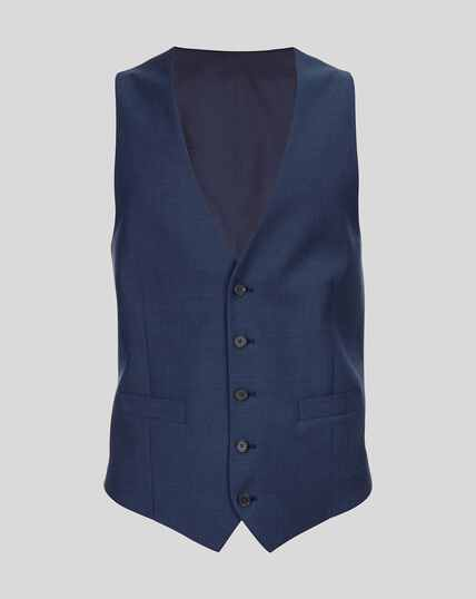 Herringbone Suit Vest - Royal Blue