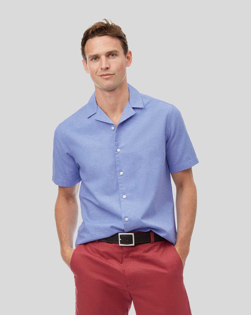 Short Sleeve Resort Shirt - Blue
