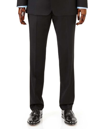 Black slim fit Italian suit trousers