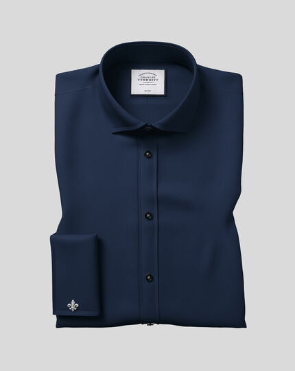 Cutaway Collar Non-Iron Twill Shirt - Navy