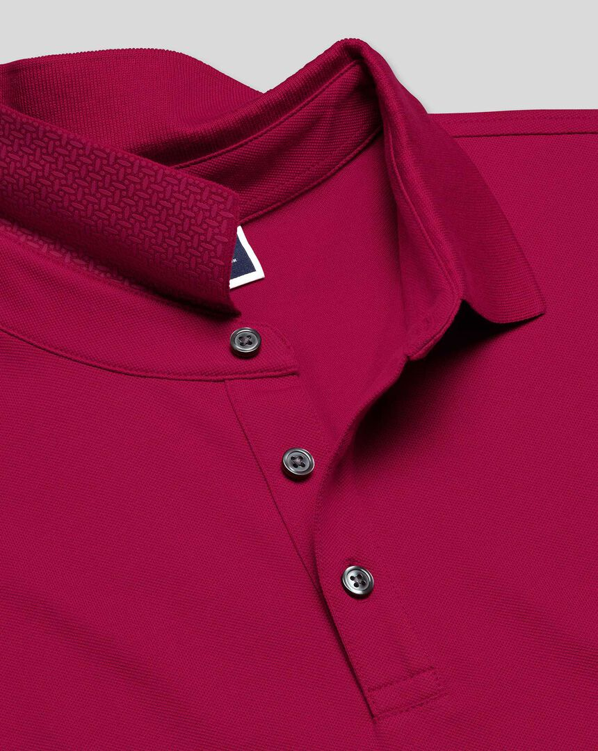 Tyrwhitt Pique Polo - Bright Pink