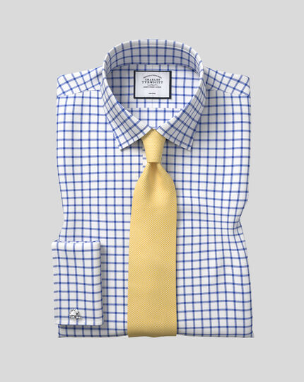 Cravate classique en soie anti-taches - Jaune clair