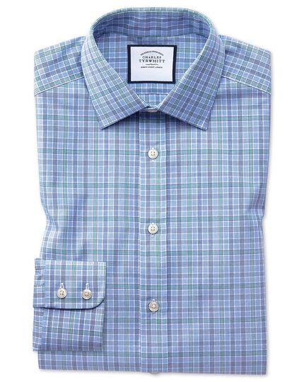 Classic Fit Hemd mit Prince-of-Wales-Karos in Blau und Grün