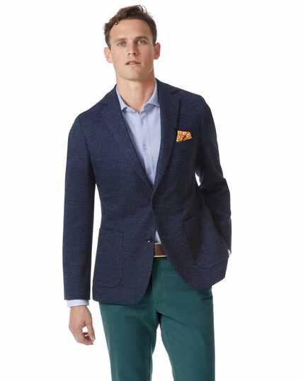 Slim fit blue stretch jacket