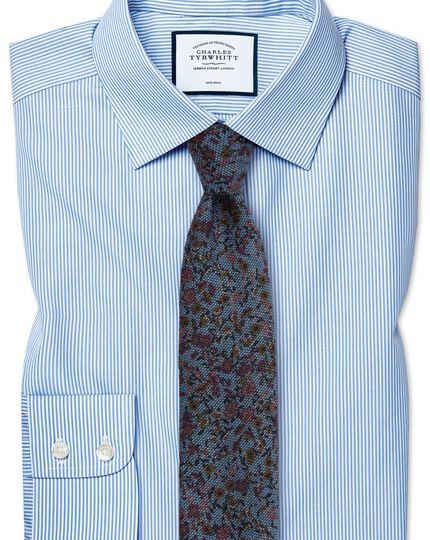 c30b7b5774 Slim fit non-iron sky blue Bengal stripe shirt | Charles Tyrwhitt