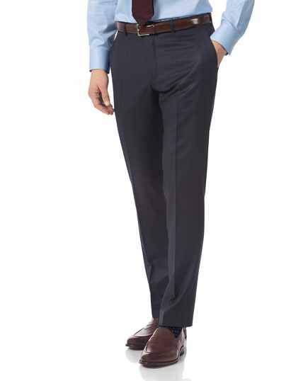 Airforce blue slim fit Italian suit trousers
