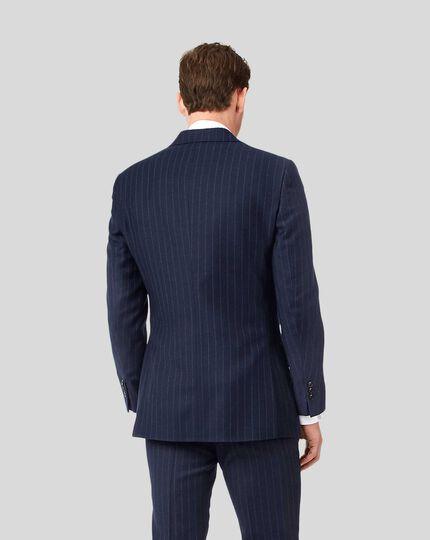 Britisches Luxusanzug-Sakko mit Streifen - Dunkelblau
