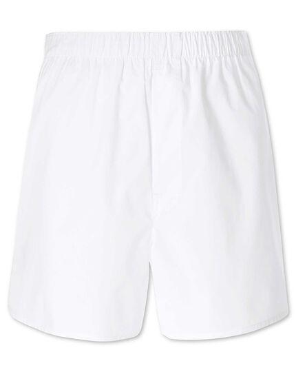 Plain white woven boxers