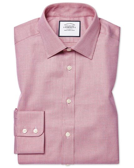 Classic fit Egyptian cotton chevron pink shirt
