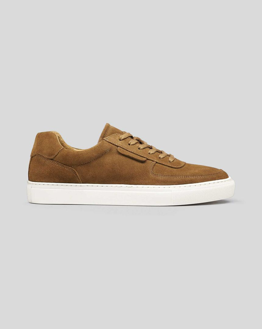 Suede Trainers - Tan