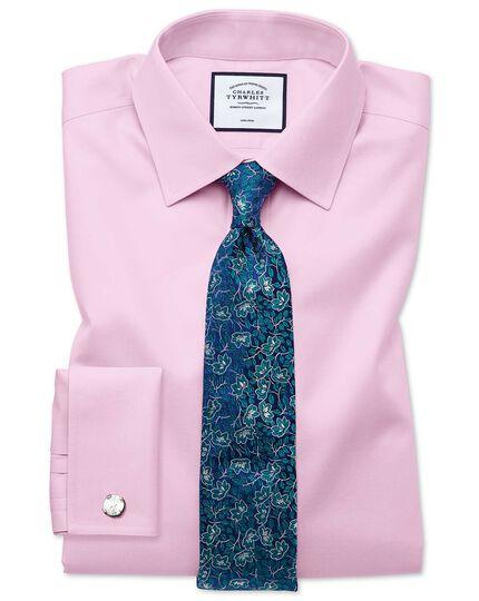 Green silk floral English luxury tie
