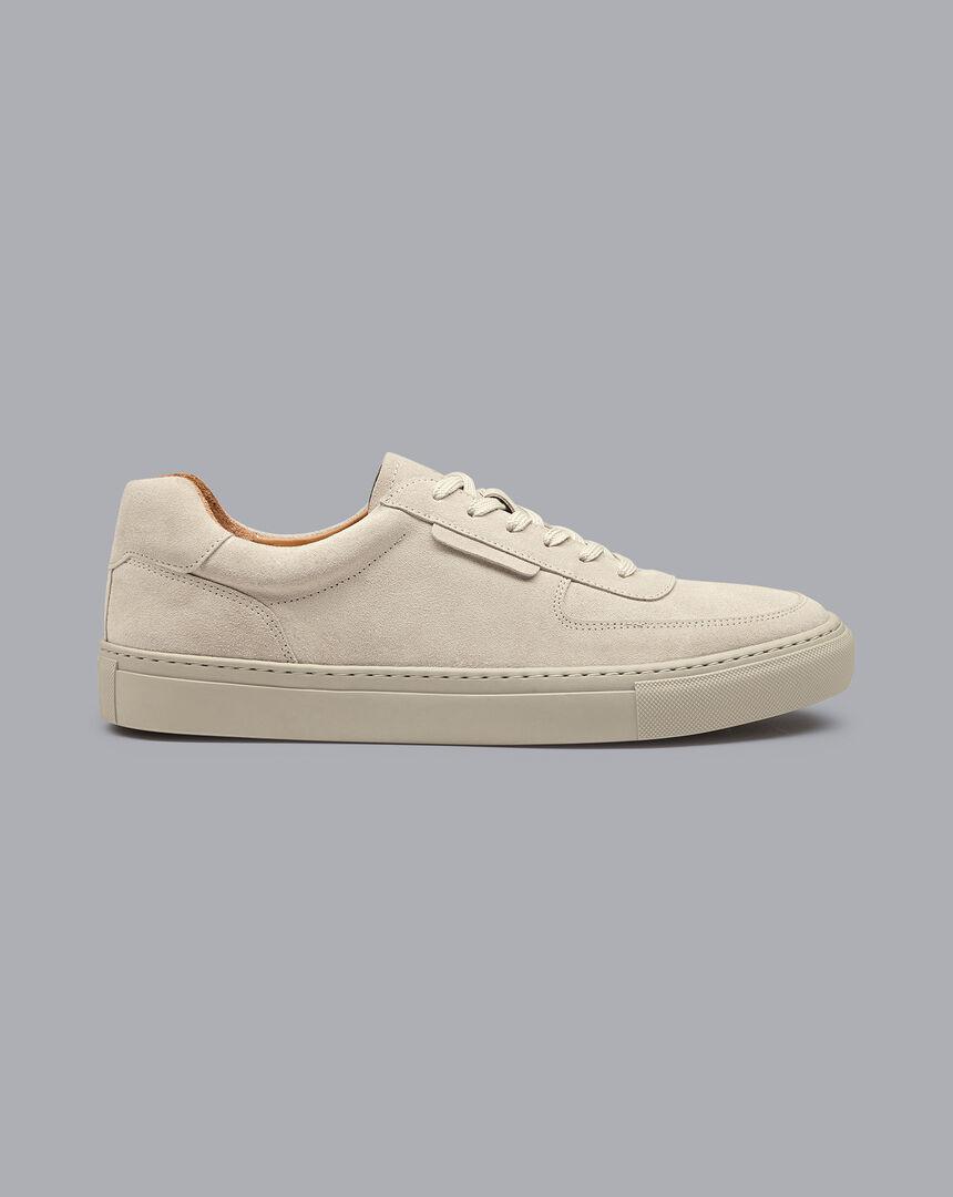 Sneakers aus Wildleder - Grau