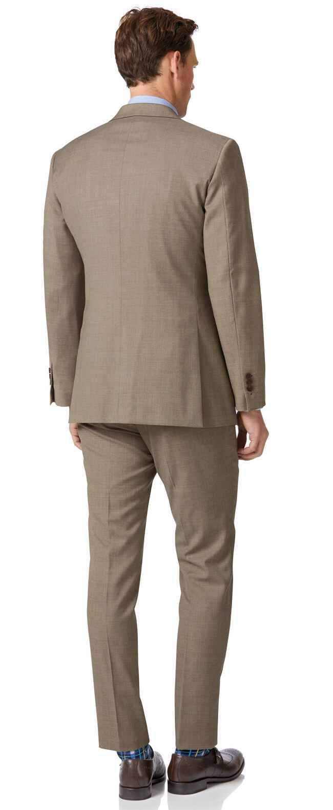 Fawn slim fit twill business suit
