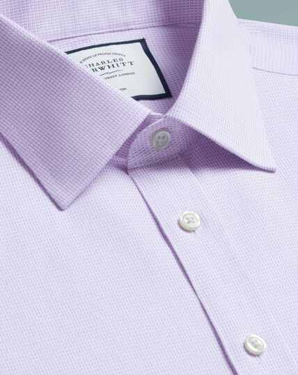 Bügelfreies Slim Fit Hemd aus Dash-Gewebe in Lila