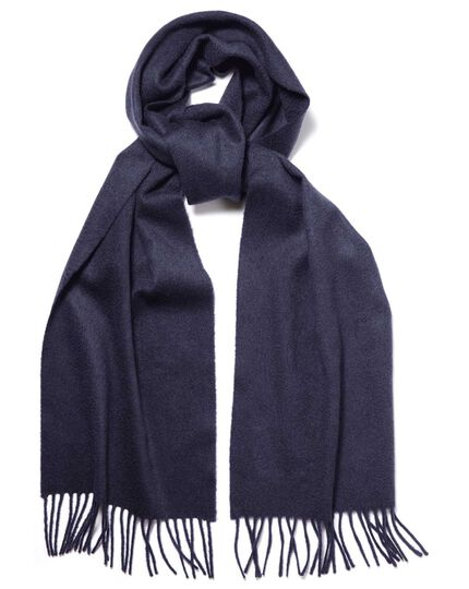 Écharpe bleu marine en cachemire