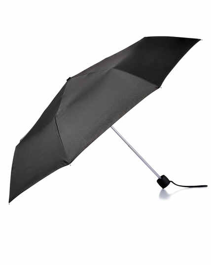 Black wind resistant compact umbrella