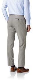 Light grey slim fit twill business suit