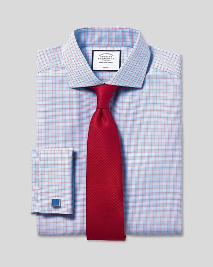 Stain Resistant Silk Textured Tie - Red