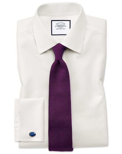 Dark purple silk slim knitted classic tie