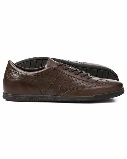 Brown smart sneakers