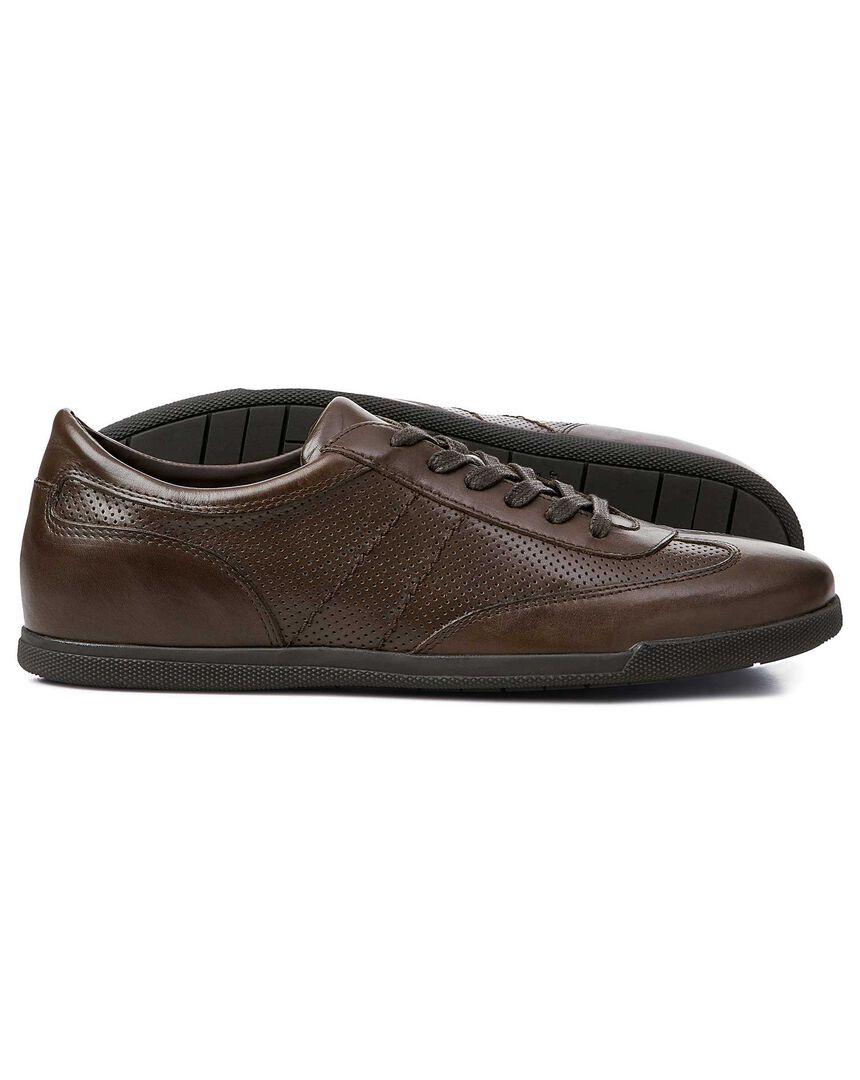 Brown smart sneakers