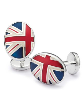 Union Jack enamel cufflinks