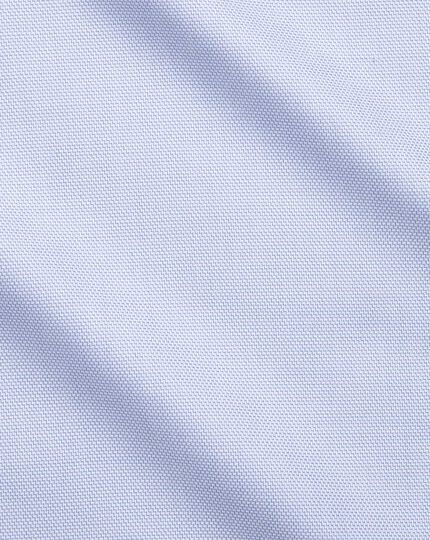Bügelfreies Extra Slim Fit Hemd aus Stepweave-Gewebe in Himmelblau
