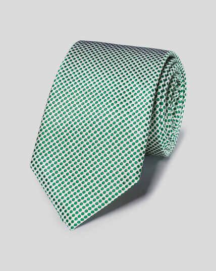 Klassische Krawatte aus Seide - Grün