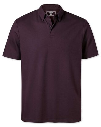 Plain burgundy jersey polo