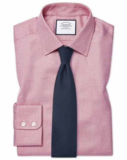 Egyptian Cotton Chevron Shirt - Pink