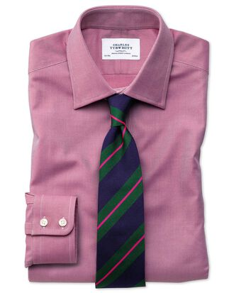 Slim fit Egyptian cotton royal Oxford magenta shirt